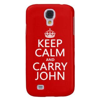 Mantenga tranquilo y lleve a Juan (cualquier Samsung Galaxy S4 Cover