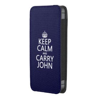 Mantenga tranquilo y lleve a Juan Funda Acolchada Para iPhone