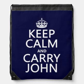 Mantenga tranquilo y lleve a Juan Mochilas