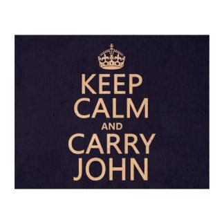 Mantenga tranquilo y lleve a Juan Papel De Corcho