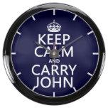 Mantenga tranquilo y lleve a Juan Reloj Aqua Clock