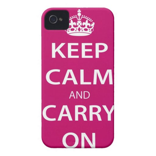 Mantenga tranquilo y lleve a OM iPhone 4 Fundas