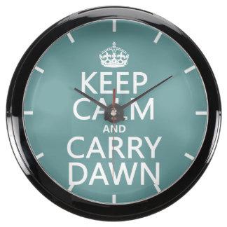 Mantenga tranquilo y lleve el amanecer reloj aquavista
