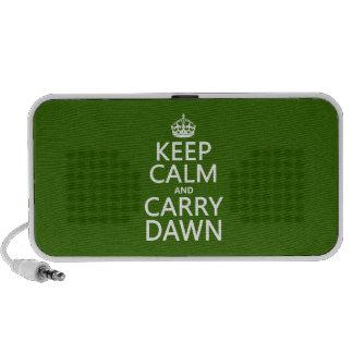 Mantenga tranquilo y lleve el amanecer cualquier laptop altavoces