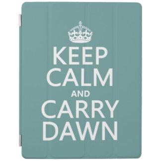 Mantenga tranquilo y lleve el amanecer cubierta de iPad