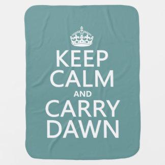Mantenga tranquilo y lleve el amanecer manta de bebé