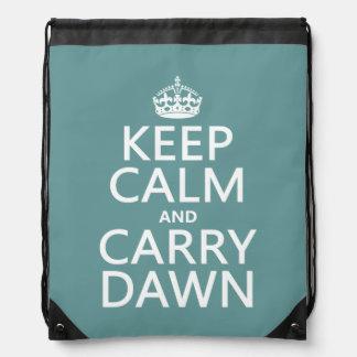 Mantenga tranquilo y lleve el amanecer mochila