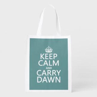 Mantenga tranquilo y lleve el amanecer bolsa de la compra