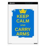 Mantenga tranquilo y lleve el engranaje de Viking  Calcomanía Para iPad 2