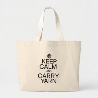 Mantenga tranquilo y lleve el hilado bolsa lienzo