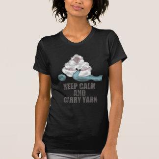Mantenga tranquilo y lleve el hilado t-shirts