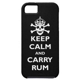 Mantenga tranquilo y lleve el ron iPhone 5 carcasa