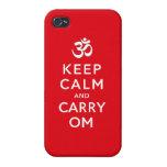 Mantenga tranquilo y lleve la caja del iPhone 4 de iPhone 4 Cobertura