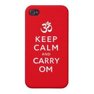 Mantenga tranquilo y lleve la caja del iPhone 4 de iPhone 4 Carcasas