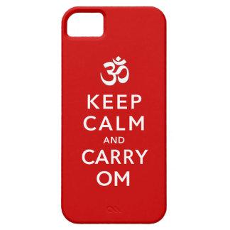 Mantenga tranquilo y lleve la caja del iPhone 5 de iPhone 5 Carcasas