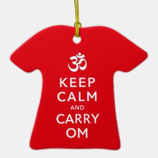 Mantenga tranquilo y lleve la moral de motivación ornamento de navidad