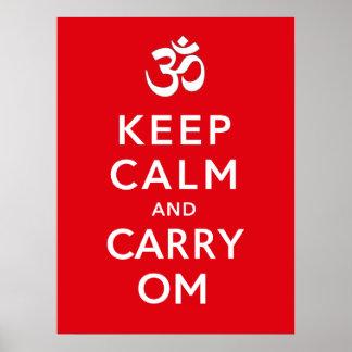 Mantenga tranquilo y lleve la moral de motivación  impresiones