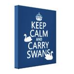 Mantenga tranquilo y lleve los cisnes - todos los  impresiones de lienzo