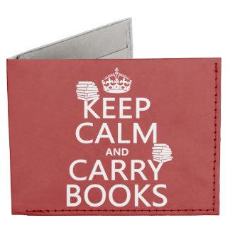Mantenga tranquilo y lleve los libros (en billeteras tyvek®