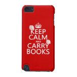 Mantenga tranquilo y lleve los libros (en cualquie
