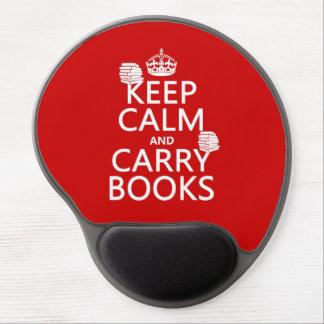 Mantenga tranquilo y lleve los libros (en cualquie alfombrilla de raton con gel