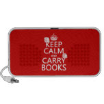 Mantenga tranquilo y lleve los libros (en cualquie iPod altavoz