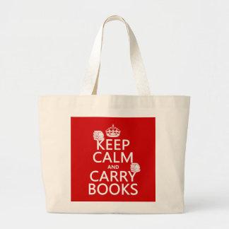 Mantenga tranquilo y lleve los libros (en cualquie bolsas de mano