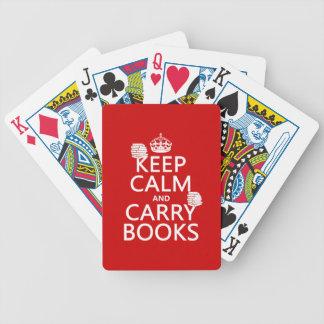 Mantenga tranquilo y lleve los libros (en cualquie baraja