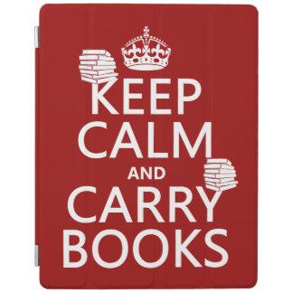 Mantenga tranquilo y lleve los libros (en cubierta de iPad