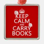 Mantenga tranquilo y lleve los libros (en ornamento de reyes magos