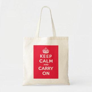 Mantenga tranquilo y lleve On_BAG_RED Bolsa De Mano