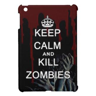 Mantenga tranquilo y los undead muertos que camina iPad mini carcasa