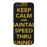 Mantenga tranquilo y mantenga la velocidad a travé iPhone 5 carcasa