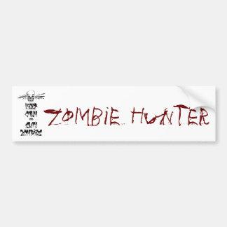 Mantenga tranquilo y mate a los zombis pegatina para auto