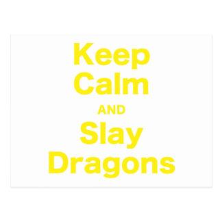 Mantenga tranquilo y mate los dragones postales