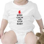 Mantenga tranquilo y pare Kony 2012 Traje De Bebé