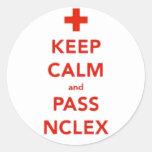 Mantenga tranquilo y pase a los pegatinas de NCLEX