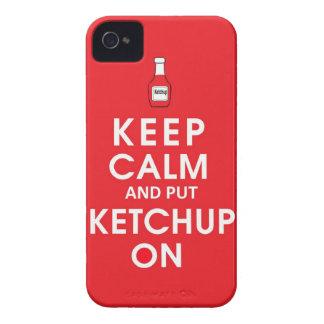 Mantenga tranquilo y ponga el hambu divertido del iPhone 4 Case-Mate cárcasas