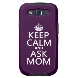 Mantenga tranquilo y pregunte a mamá - todos los c samsung galaxy s3 carcasas