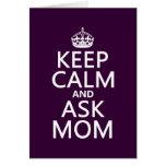 Mantenga tranquilo y pregunte a mamá - todos los c felicitacion