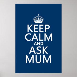 Mantenga tranquilo y pregunte a momia - todos los poster