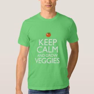 Mantenga tranquilo y produzca los Veggies Playera