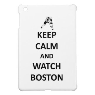 Mantenga tranquilo y reloj Boston iPad Mini Protectores