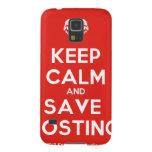 Mantenga tranquilo y reserva Fostino Funda Para Galaxy S5