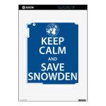 Mantenga tranquilo y reserva Snowden Skin Para El iPad 2