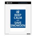 Mantenga tranquilo y reserva Snowden Skins Para elNOOK Color