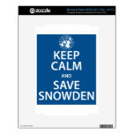 Mantenga tranquilo y reserva Snowden NOOK Calcomanías