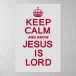 Mantenga tranquilo y sepa que Jesús es señor Poster