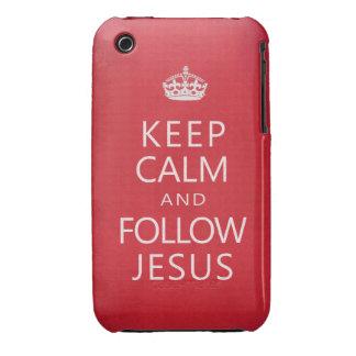 Mantenga tranquilo y siga a Jesús Case-Mate iPhone 3 Funda