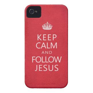 Mantenga tranquilo y siga a Jesús Case-Mate iPhone 4 Coberturas